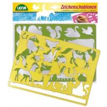 Lena Kreslící šablony koně, kočky