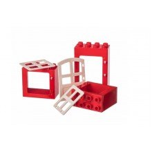L-W Toys Kreativní set okna a dveře 3 ks KOSTKY 1,5+