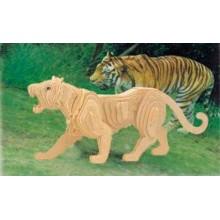 Woodcraft Dřevěné 3D puzzle tygr