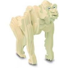 Woodcraft Dřevěné 3D puzzle gorila
