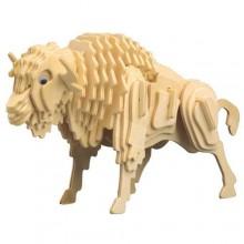 Woodcraft Dřevěné 3D puzzle bizon