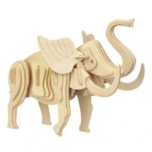 Woodcraft Dřevěné 3D puzzle malý slon