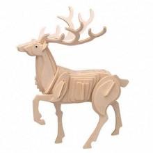 Dřevěné 3D puzzle dřevěná skládačka zvířata - Jelen M031