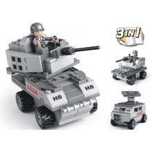 Sluban Army 9into1 M38-B0537B Obrněný vůz 3v1