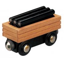 Maxim Dřevěný vagóns potrubím