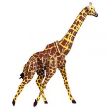 Woodcraft Dřevěné 3D puzzle žirafa