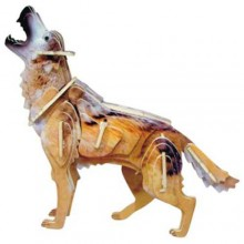 Woodcraft Dřevěné 3D puzzle Vlk
