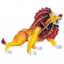 Woodcraft Dřevěné 3D puzzle malý lev