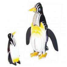 Woodcraft Dřevěné 3D puzzle tučňáci