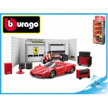 Bburago Race & Play Ferrari sada pneuservis Ferrari model 1:43