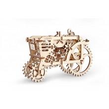 Ugears Dřevěná stavebnice 3D mechanické Puzzle Traktor
