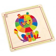 HAPE dřevěné hračky - dřevěná mozaika z písku lev