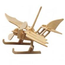 Woodcraft Dřevěné 3D puzzle hydroplán