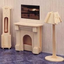 Woodcraft Dřevěné 3D puzzle krb