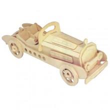 Woodcraft Dřevěné 3D puzzle mercedes