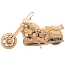 Dřevěné 3D puzzle skládačka Motorka Harley-Davidson II P020