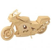 Woodcraft Dřevěné 3D puzzle motorka závodní