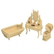 Woodcraft Dřevěné 3D puzzle koupelna