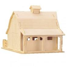 Woodcraft Dřevěné 3D puzzle stodola