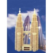 Woodcraft Dřevěné 3D puzzle Petronas Twin Towers