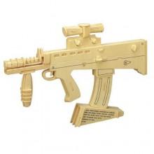 Woodcraft Dřevěné 3D puzzle karabina