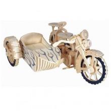 Woodcraft Dřevěné 3D puzzle motorka trojkolka Saidkára