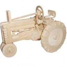 Woodcraft Dřevěné 3D puzzle traktor