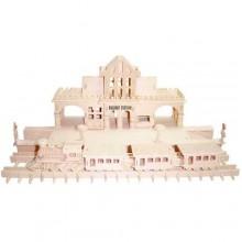 Woodcraft Dřevěné 3D puzzle nádraží