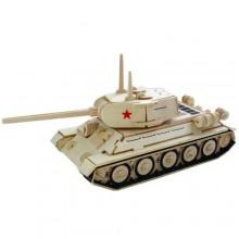 Woodcraft Dřevěné 3D puzzle tank T-34 P