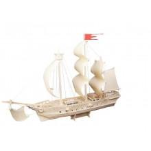 Woodcraft Dřevěné 3D puzzle plachetnice