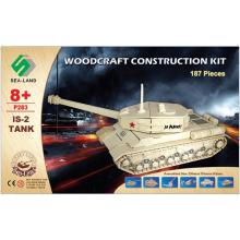 Woodcraft Dřevěné 3D puzzle tank IS 2