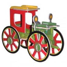 Woodcraft Dřevěné 3D puzzle Rolling Automobile