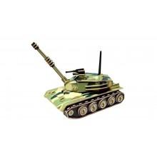 Woodcraft Dřevěné 3D puzzle tank barevný