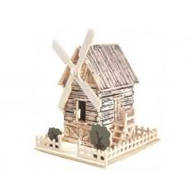 Dřevěné skládačky 3D puzzle - Větrný mlýn Ph006