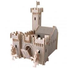 Dřevěné skládačky 3D puzzle slavné budovy - Hrad I - PH024