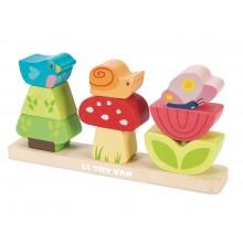 Le Toy Van Petilou skládací kostky veselá zahrádka