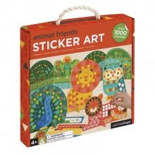Petitcollage Kreativní puzzle se samolepkami zvířátka - 1000 kusů