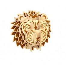 Woodcraft Dřevěné 3D puzzle hlava lva