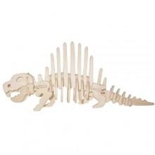 Dřevěné 3D puzzle skládačka - dinosauři Dimetrodon