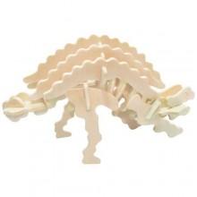 Dřevěné 3D puzzle skládačka - dinosauři Ankylosaurus