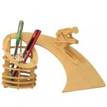 Woodcraft Dřevěné 3D puzzle stojan na tužky sjezd