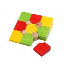Voila Dřevěné 3D puzzle tvary
