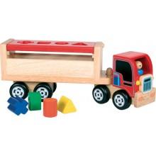 Santoys Dřevěný nákladní kamion s vhazováním tvarů