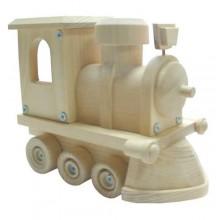 HJ Toys Dřevěné auto lokomotiva