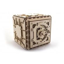 Ugears dřevěná stavebnice 3D mechanické Puzzle - Trezor