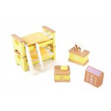 Tidlo dřevěný nábytek - Dětský pokoj žlutý