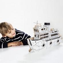 TO DO kartonová 3D skládačka Parník