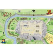 Le Toy Van Hrací koberec PLAYMAT hrad 150x100 cm