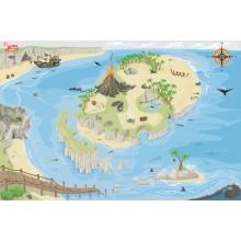 Le Toy Van Hrací koberec PLAYMAT pirátský ostrov 80x120cm