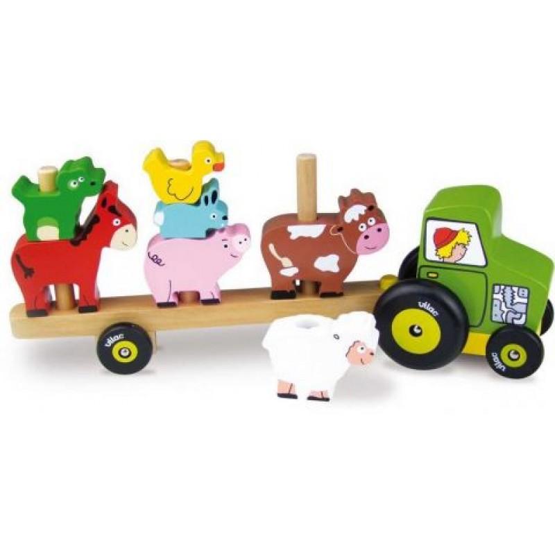 Vilac Traktor se zvířátky - nasazování